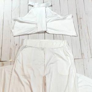 Ladies Crop Top Shirt &Pants Set